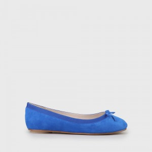 Annelie Ballerina Suede electric blue